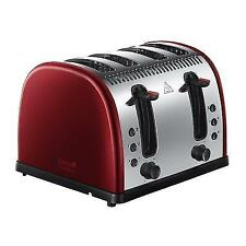 Russell Hobbs 21301 Red Stainless Steel 4 Slice Wide Slot Bread Toaster