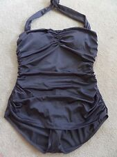 NWT Esther Williams Bathing Charcoal Gray Color Sz 18W Pin Up Vintage Style LOOK