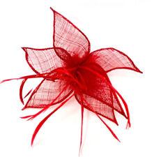 Red Feather Beak Clip Fascinator Ladies Day Races Ascot Weddings