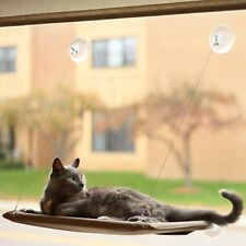 Evelots Cat Perch Window Suction Cup Mounted Heavy Duty Kitty Bed, Holds 25 lbs