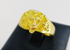 B BAGUE HOMME OR JAUNE MASSIF 18K CARATS 8 GRAMS LION YELLOW GOLD RING MAN