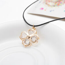Elegant 18k Yellow Gold Plated Glass Flora Penant Woman Gift Necklace N-A558