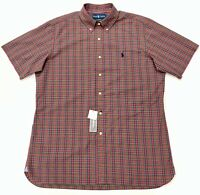 Ralph Lauren Short Sleeve Shirt Classic Fit In Red Check Size L