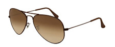 New Ray Ban Aviator RB 3025 014/51 Metal w/Brown-Brown Gradient size 58mm