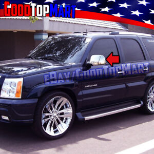 For Cadillac ESCALADE 2002 2003 2004 2005 2006 Chrome FULL Mirror Cover Stick on