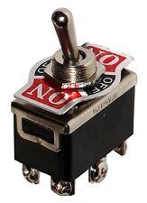 Interruptor conmutador de palanca DP3T ON-OFF-ON 10A/250V, 3 posiciones