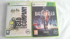 PACK 2 JUEGOS: BATTLEFIELD 3 Y BAD COMPANY MICROSOFT XBOX 360 PAL EUROPA UK