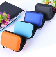 Mini Carrying Hard Zipper Case Bag Pouch for Earphone Headphone iPod MP3 Pouch