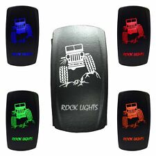 On/Off Rocker Switch Rock Lights Jeep On Off Green LED Truck Glow Kit