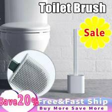 Silicone Toilet Brush with Toilet Brush Holder Creative Cleaning Brush Set New