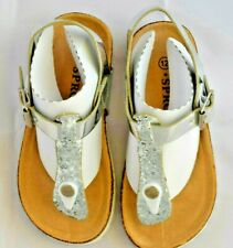 "NIB ""SPROX"" Girl's Silver Sandals Kids 12"