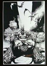 """BATMAN DARK KNIGHT ART PRINT MARC SILVESTRI & BATT SIGNED 12""""x18"""""""