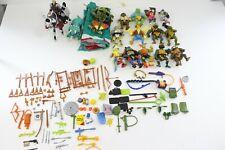 1980's 1990's TMNT Teenage Mutant Ninja Turtles Figures & Large Accessories Lot