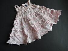LILI GAUFRETTE Zauberhaftes rosa Sommerkleid mit Rüschen und Spitze Gr.6m 68