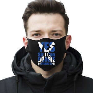 Scotland 2021 Yes Sir I Can Boogie Euro Face Covering Mask Washable Reusable