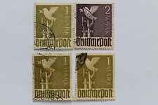 Gestempelte deutsche Briefmarken der alliierten Besatzung als Sammlung