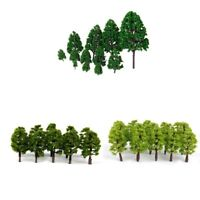 52pcs HO N Multi Scale Plastic Model Trees Train Railroad Scenery Landscape
