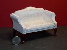 Dollhouse Miniature Queen Anne Loveseat White 1:12 Inch Scale G56 Dollys Gallery