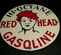 Red Head Gas Oil gasoline sign
