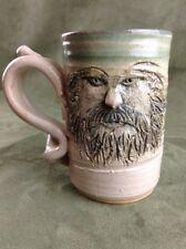 1988 Vintage Art Pottery Coffee Tea Mug Cup Signed by Steve Burrow Fantasy