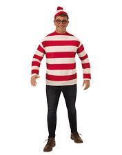 Wheres Waldo Mens Adult Book Character Plus Size Halloween Costume