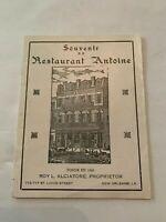 Vintage Souvenir Of Restaurant Antoine New Orleans Advertising Booklet