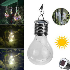 1x Solar LED Light Bulbs Hanging Outdoor Garden Camping Decoration Lamp New