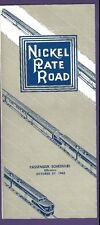 1963 Nickel Plate Road Railroad Time Tables / Schedules