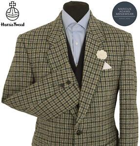Harris Tweed Jacket Blazer 40R Windowpane Country Check Hunting Hacking Sports
