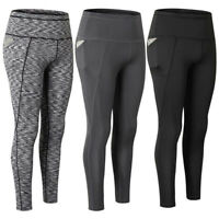 Women's Workout Running Yoga Tights W/ Pockets Compression Dri-fit Long Pants US