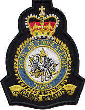 RAF Digby Royal Air Force MOD Crest Embroidered Patch