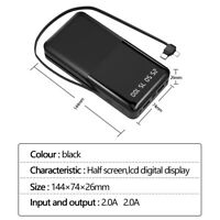 1000000mAh 2 USB Backup External Battery Power Bank Pack Charger for Cell Phone