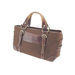 Celine Handbag Brown Gold Woman Authentic Used G929