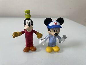 "Disney 2016 Mattel Car Mechanic Mickey Mouse & Goofy Figures 3"" -  Replacement"