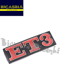 1717 - TARGHETTA IN ALLUMINIO PER TELAIO POSTERIORE ET3 VESPA 125 ET3