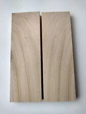 Scottish Bird Cherry custom Wood knife scales book matched