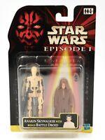 Star Wars Episode 1 - Anakin Skywalker with Bonus Battle Droid Action Figure Set