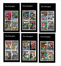 THE AVENGERS SUPERHEROES 10 SOUVENIR SHEETS MNH UNPERFORATED MARVEL