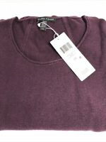 Womens Top Eileen Fisher organic cotton silk scoop neck top Large Raisin $258