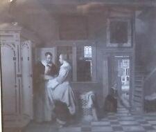 The Good Housewife (The Linen Chest). Pieter Hooch, Magic Lantern Glass Slide