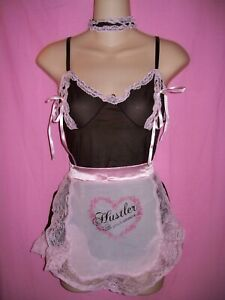 Hustler Lingerie Sexy French Maid 4 piece Costume Roleplay Set: One Size
