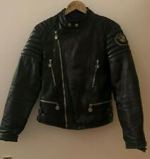 Bmw Patch real Leather motor cycle Biker Jacket, size S.