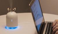 Mini Humidificateur Portable Veilleuse Chargeur USB Forme de Cerf Ultrasons