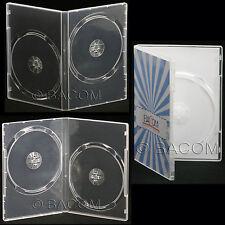 50 Custodie DVD Doppie Trasparenti - DVD Super Clear per 2 DVD/CD Sp. Gratuita!