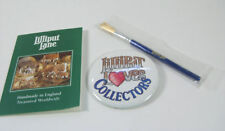Cottage Lilliput Lane Cleaning Brush New & Club Button