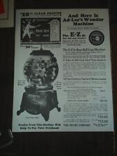 Ez Ad-Lee's gumball machine ad sheet W@W Free shipping
