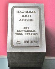 Mount Everest Mint Steel Die for American Folk Heroes silver bars [Collectors]