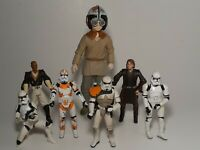 Star Wars Action Figure Lot Of 7 - Includes Vintage Stormtrooper