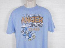 Walt Disney Donald Duck I Flunked My Anger Management Class Large T shirt