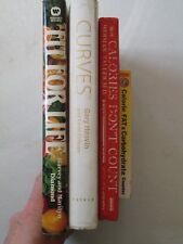DIET BOOKS LOT OF 4 Curves Fit for Life Calories Don't Count Fat & Carb Counter